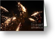 Pyrotechnics Greeting Cards - Trigger dragon Greeting Card by Agusti Pardo Rossello