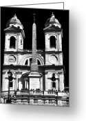 Crucifix Art Greeting Cards - Trinita Church Greeting Card by John Rizzuto