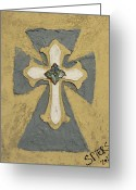 Yellow Sculpture Greeting Cards - Trinity Greeting Card by Amanda  Sanford