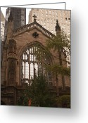 Occupy Photo Greeting Cards - Trinity Church 3 Greeting Card by Teresa Mucha