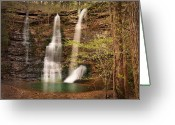 Tamyra Ayles Greeting Cards - Triple Falls Landscape Greeting Card by Tamyra Ayles