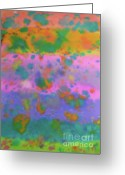 Deep In Thought Painting Greeting Cards - Trippin Greeting Card by Carolyn Weir