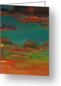 Desert Greeting Cards - Triptych 3 Greeting Card by Frances Marino
