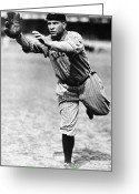 Glove Greeting Cards - Tris Speaker (1888-1958) Greeting Card by Granger