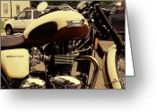 Motorbike Greeting Cards - Triumph Detail Greeting Card by Rashelle Brown
