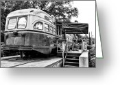 Germantown Photo Greeting Cards - Trolley Car Diner - Philadelphia Greeting Card by Bill Cannon