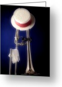 Museum Print Greeting Cards - Trombone Hat Bow Tie Greeting Card by M K  Miller