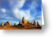 Apes Greeting Cards - Trona Pinnacles California Greeting Card by Bob Christopher