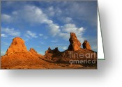 Planet Of The Apes Greeting Cards - Trona Pinnacles Golden Hour Greeting Card by Bob Christopher