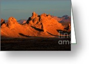 Planet Of The Apes Greeting Cards - Trona Pinnacles Panorama Greeting Card by Bob Christopher