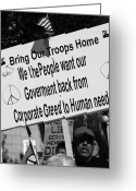 Occupy Greeting Cards - Troops Greeting Card by Sonya Anthony