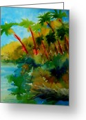 Julianne Felton Greeting Cards - Tropical Canal Greeting Card by Julianne Felton