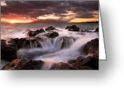 Rocks Greeting Cards - Tropical Cauldron Greeting Card by Mike  Dawson