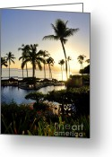 Beach Scenery Greeting Cards - Tropical Dream Greeting Card by Rosy Kueng