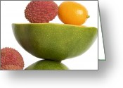 Exotic Fruits Greeting Cards - Tropical fruits Greeting Card by Bernard Jaubert