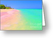 Mediterranian Greeting Cards - Tropical Island 7 - Painterly Greeting Card by Wingsdomain Art and Photography