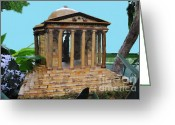 Democrat Party Greeting Cards - Tropical Jefferson Memorial Greeting Card by Jost Houk