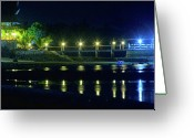 Cebucity Greeting Cards - Tropical Lights Greeting Card by James Bo Insogna