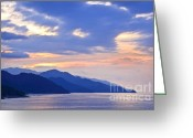 Pacific Ocean Photo Greeting Cards - Tropical Mexican coast at sunset Greeting Card by Elena Elisseeva