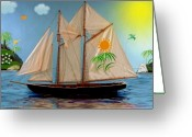 Smudgeart Greeting Cards - Tropical Paradise Greeting Card by Madeline M Allen