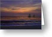 South Seas Greeting Cards - Tropical Skies Greeting Card by Gordon Beck