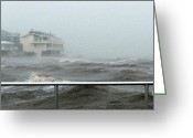Storm Prints Greeting Cards - Tropical Storm Debby in Cedar Key Fl Greeting Card by Sheri McLeroy