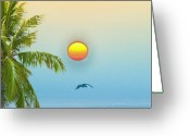 Key West Island Greeting Cards - Tropical Sun Greeting Card by Bill Cannon