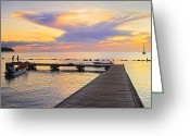 Williams Greeting Cards - Tropical Sunset- 4- St Lucia Greeting Card by Chester Williams
