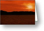 Sunset Scenes. Digital Art Greeting Cards - Tropical Sunset Greeting Card by Lourry Legarde