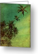Summer Digital Art Greeting Cards - Tropical Vestige Greeting Card by Andrew Paranavitana