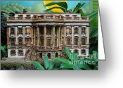 President Obama Greeting Cards - Tropical White House Greeting Card by Jost Houk