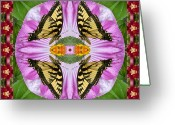 Sacred Geometry Greeting Cards - Tropicana Greeting Card by Bell And Todd