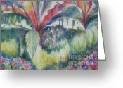 Deb Ronglien Watercolor Greeting Cards - Tropicana Greeting Card by Deborah Ronglien