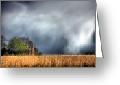 Telephone Pole Greeting Cards - Trouble Brewing  Greeting Card by JC Findley
