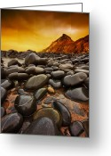 Pebbles Greeting Cards - Troublesome Sky Greeting Card by Mark Leader
