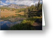 National Greeting Cards - Trout Lake, Yellowstone National Park Greeting Card by DBushue Photography