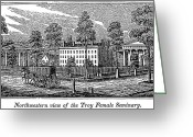 Troy Greeting Cards - Troy Female Seminary, 1841 Greeting Card by Granger