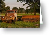 Homesickness Greeting Cards - Truck and Tank 31 Greeting Card by Douglas Barnett