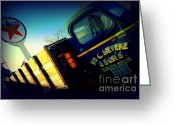 The Mother Road Greeting Cards - Truck on Route 66 Greeting Card by Susanne Van Hulst