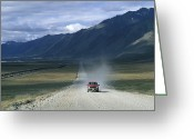 Brooks Greeting Cards - Truck On The Dalton Highway Following Greeting Card by Rich Reid