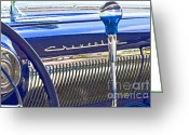 Knob Greeting Cards - True Blue Chevrolet Greeting Card by Gwyn Newcombe