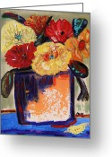 True Colors Greeting Cards - True Colors in a Vase Greeting Card by Mary Carol Williams