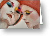 Skull Painting Greeting Cards - True colors Greeting Card by Paul Lovering