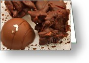 Dipped Greeting Cards - Truffles Greeting Card by Louise Heusinkveld