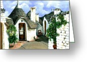 Storybook Greeting Cards - Trulli Greeting Card by Sarah Farren