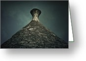 Stone Chimney Greeting Cards - Trullo Greeting Card by Joana Kruse