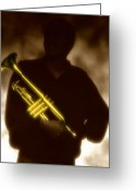Trumpet Music Greeting Cards - Trumpet 1 Greeting Card by Tony Cordoza