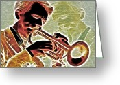 Cornet Greeting Cards - Trumpet Greeting Card by Stephen Younts