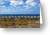 Ocean Front Greeting Cards - Truro Cottages Greeting Card by John Greim