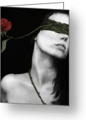Edgy Greeting Cards - Truth of Beauty Greeting Card by Pat Erickson